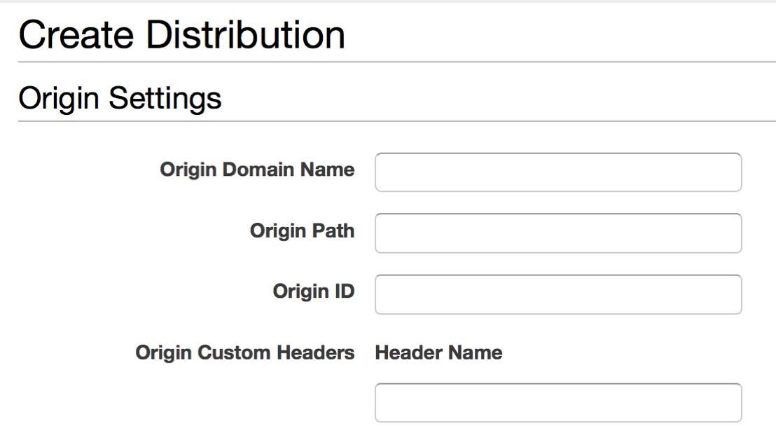 CloudFront distribution configuration